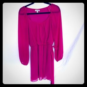 Fuchsia Chiffon Speechless Dress Size M
